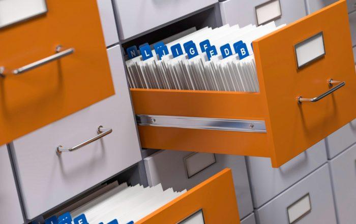 Förderdatenbank in Schubladen